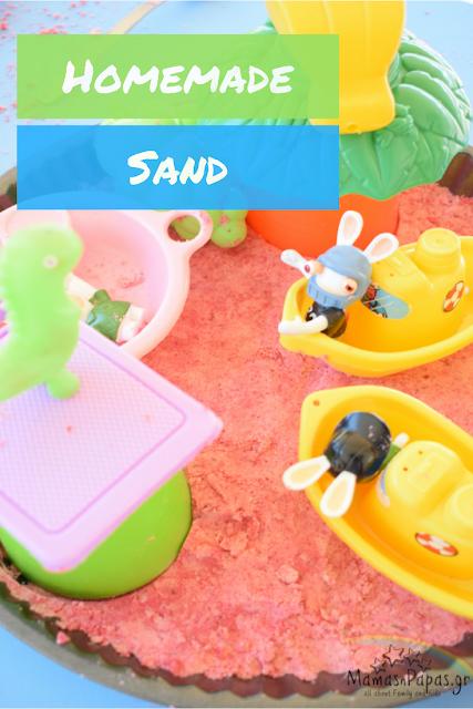 colourful homemade sand