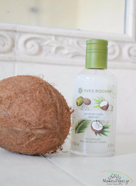 coconut eau de toilette yves rocher