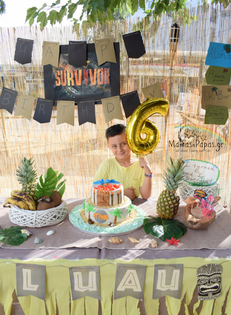 survivor birthday party decoration