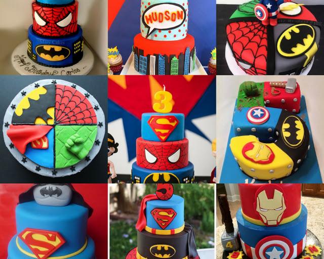 super heroes birthday cakes